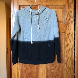 FOREVER 21 washed out distressed hoodie